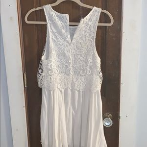 Xenia White Lace Summer Dress